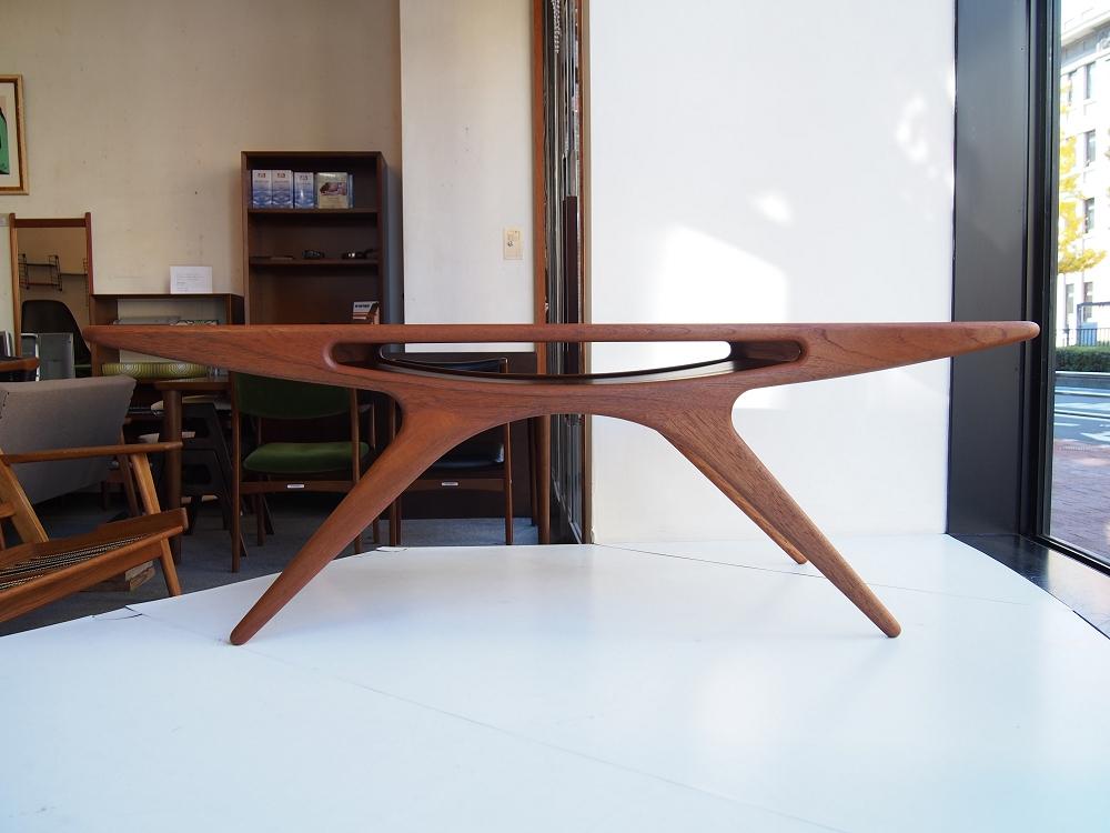 北欧家具 Teak CFC Silkeborg Johannes Andersen Smile(UFO) table