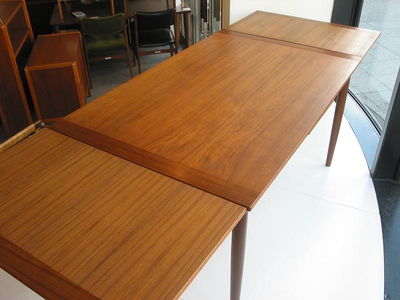 ダイニングテーブル エクステンション機能 ビンテージ ヴィンテージ 北欧家具