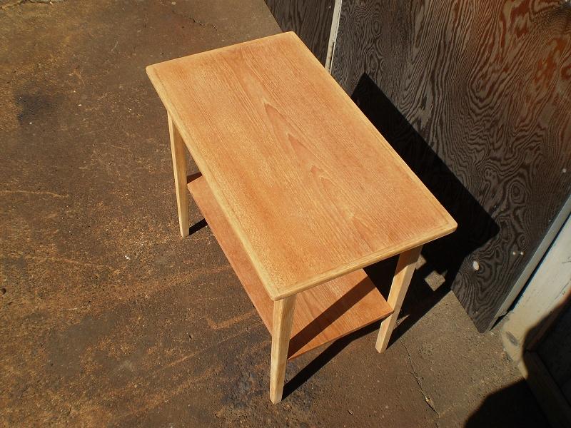 チークオーク スモールテーブル 研磨 ビンテージ ヴィンテージ 北欧家具