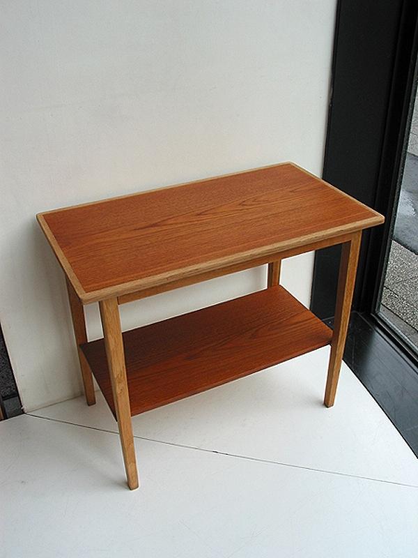 チークオーク スモールテーブル ビンテージ ヴィンテージ 北欧家具 北欧家具