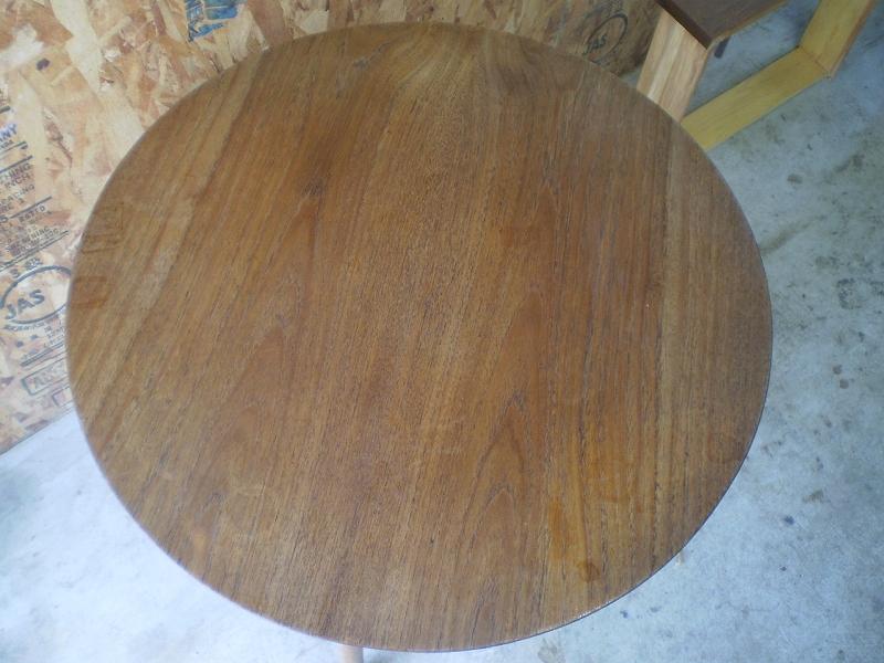 ラウンドコーヒーテーブル 研磨 ビンテージ ヴィンテージ 北欧家具