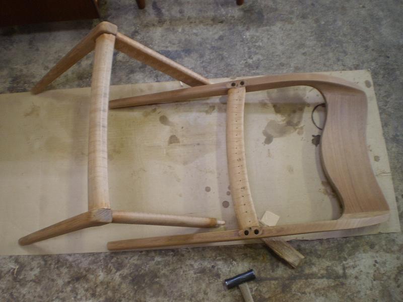 ダイニングチェア J.L.Moller Model No.71 Chair モラー ミュラー 接合部分の分解 ビンテージ ヴィンテージ 北欧家具