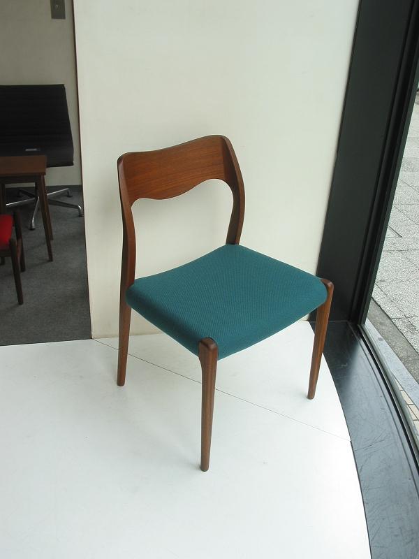 ダイニングチェア J.L.Moller Model No.71 Chair モラー ミュラー 張替え ビンテージ ヴィンテージ 北欧家具