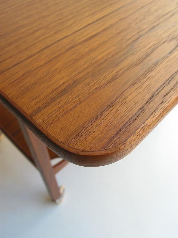 キャスターテーブル 無垢 ビンテージ ヴィンテージ 北欧家具