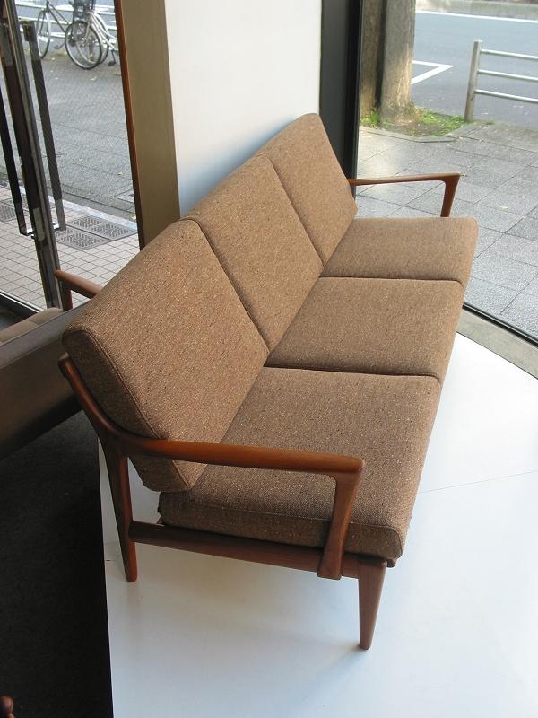 チーク3シートソファ ビンテージ ヴィンテージ 北欧家具