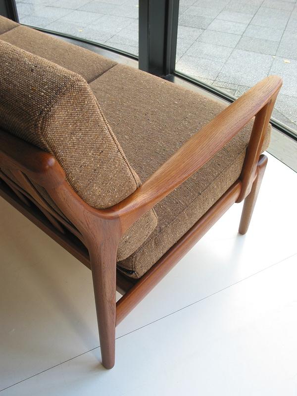 チーク3シートソファ アーム ビンテージ ヴィンテージ 北欧家具