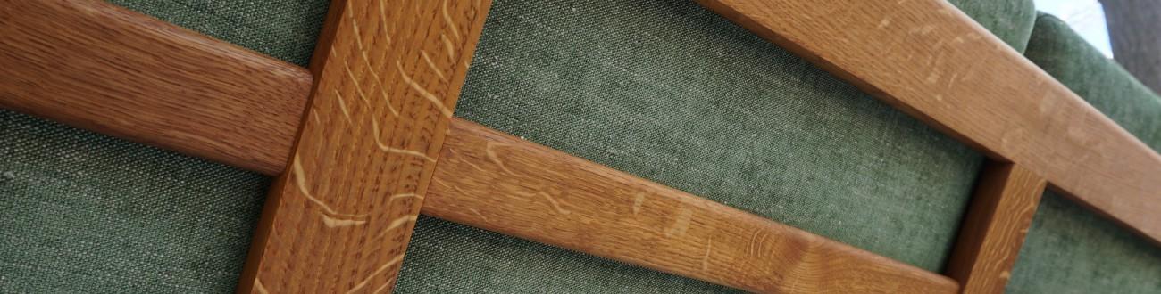 Hans J.Wegner GE290-3 sofa Oak GETAMA / ハンス・ウェグナー ゲタマ社製のソファ ビンテージ北欧家具