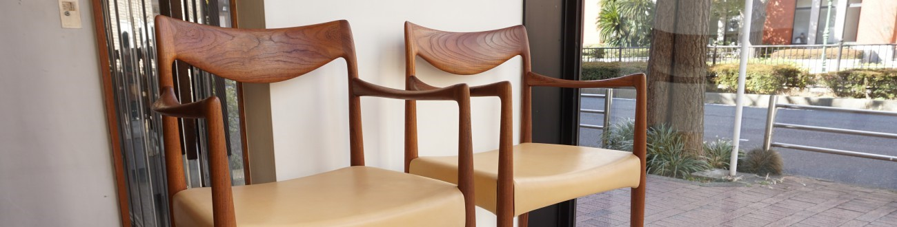 Rastad&Relling Bambi arm chair Normay aniline leather / ノルウェー、ラスタ&レリンクデザインによるアームチェア、アニリンレザー(本革)
