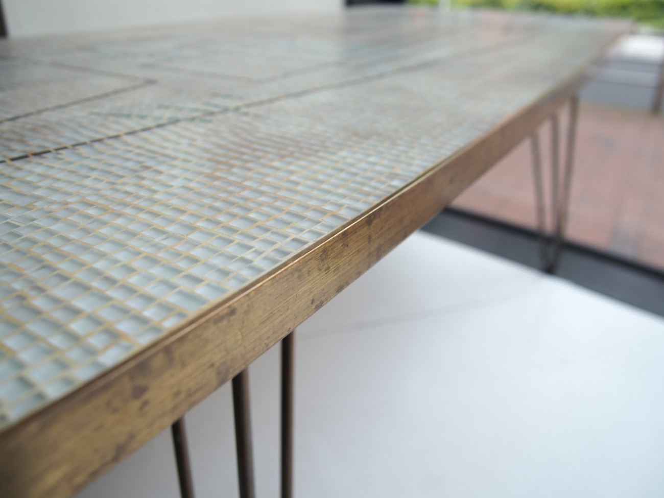 Vintage Mosaic Glass tile Table