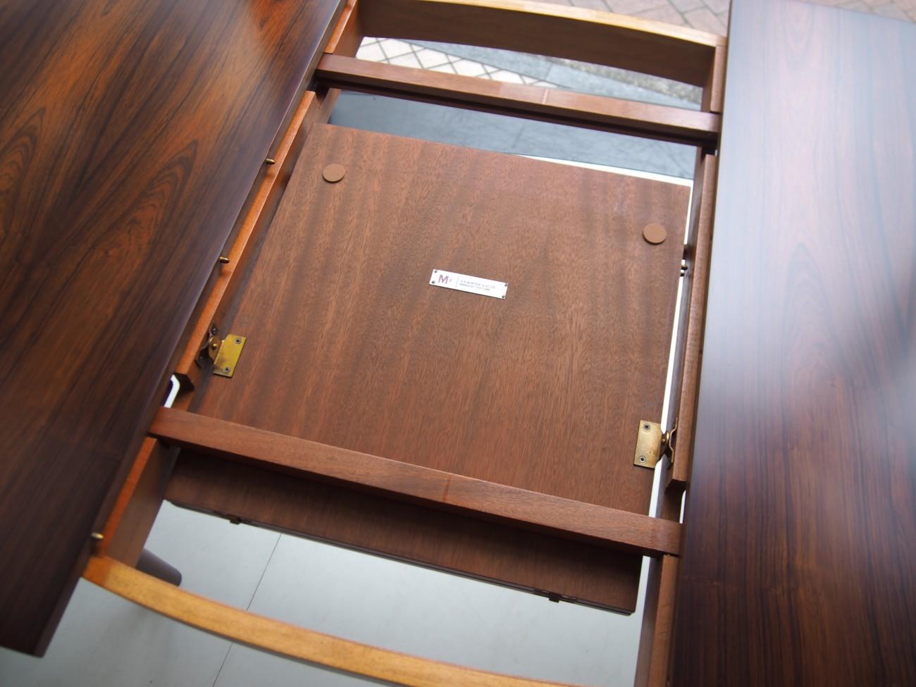 エクステンションダイニングテーブル A.H.McINTOSH(マッキントッシュ) & CO LTD KIRKCALDY SCOTLANDのエクステンション収納部分