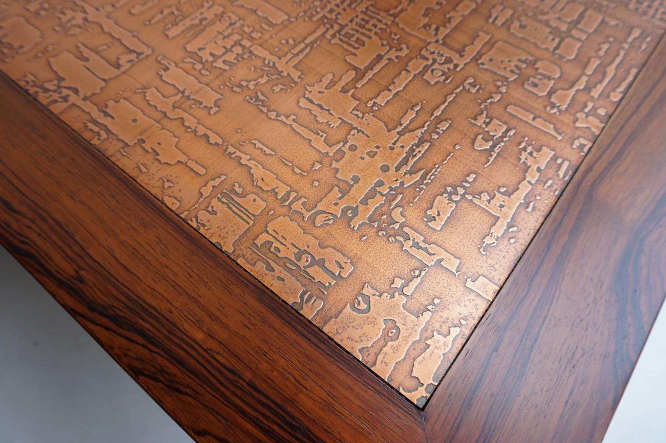 銅板天板のアップ