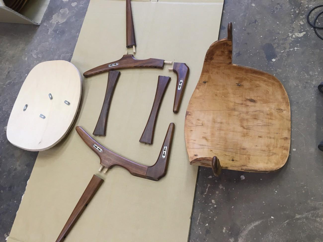 木部メンテナンスの下準備が完成。