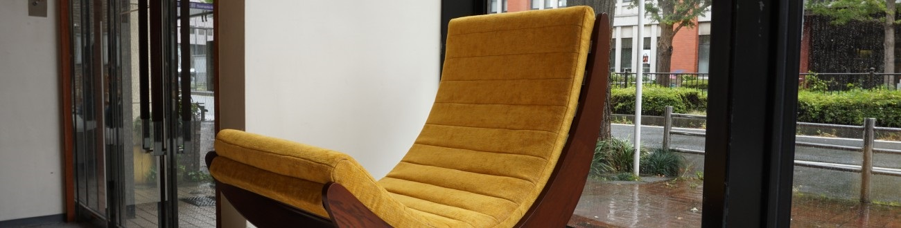 Verner Panton Rocking chair / ヴェルナー・パントン ロッキングチェア オーク材 (ダークオーク)リラクサー2を店舗に展示致しました。