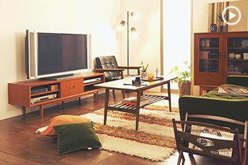 カリモク60のテレビボードや収納家具とデスクの詳細ページ