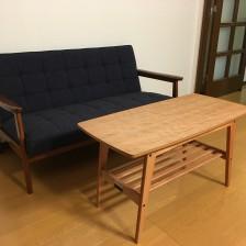 カリモク60のリビングテーブル小 チェリーナチュラル
