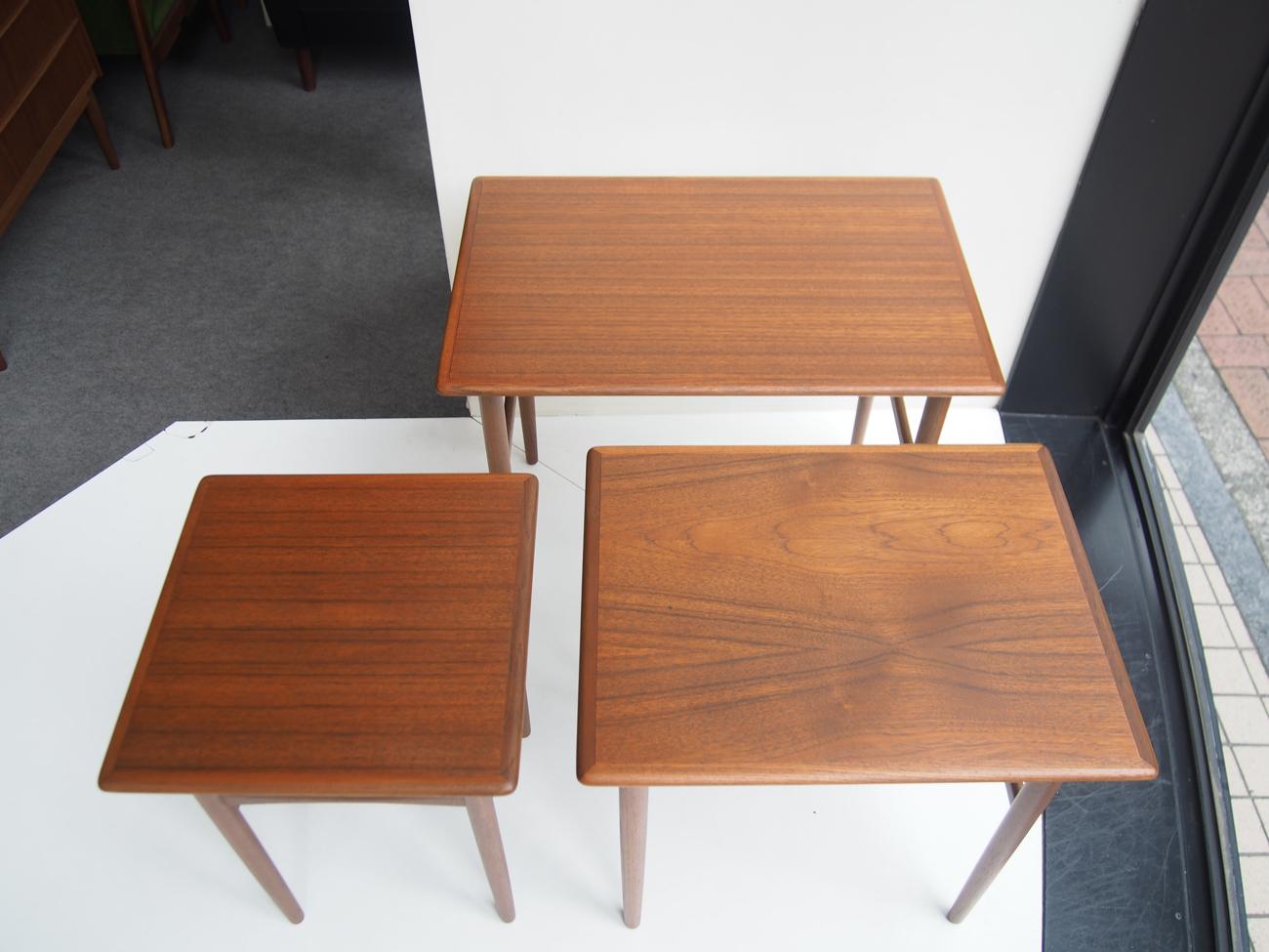 ビンテージ北欧家具のネストテーブル