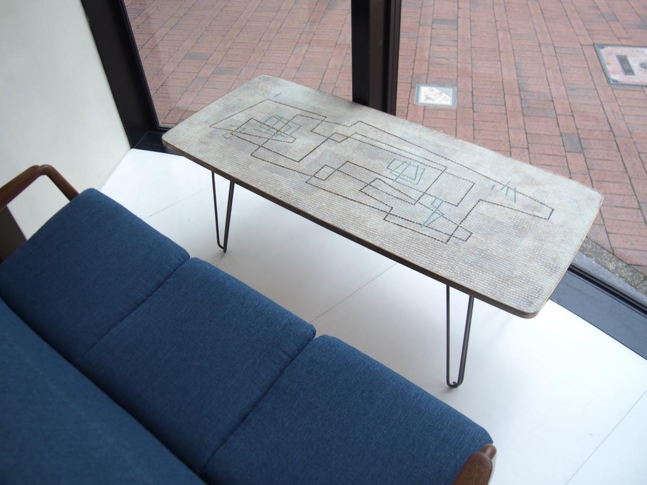 Vintage Mosaic Glass tile Table
