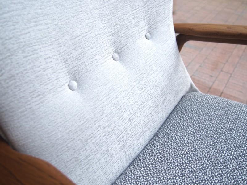 アクセル・ベンダー・マッセン bovenkamp社製のウイングバックチェア(ハイバック)+オットマンセット ビンテージ北欧家具