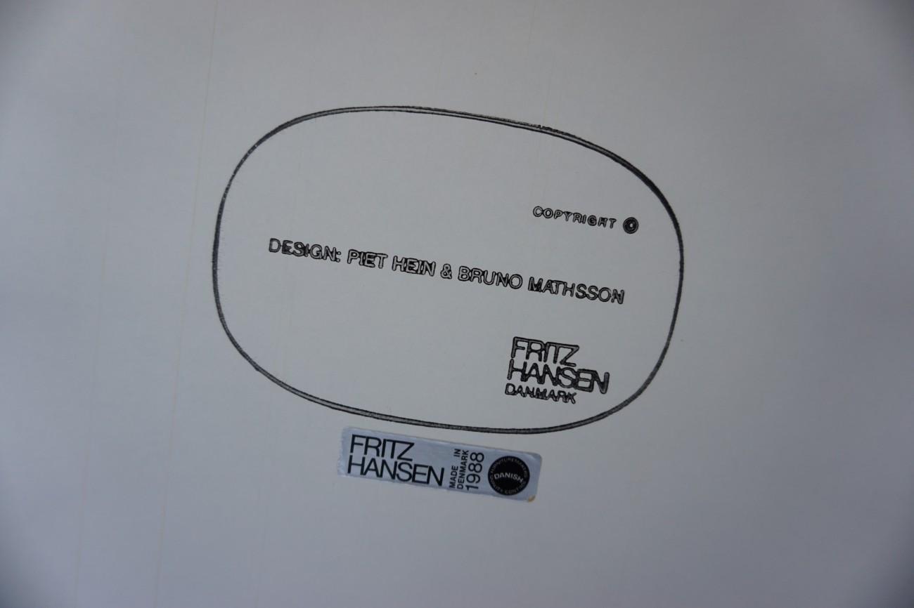 フリッツハンセンのダイニングテーブルの刻印(ピート・ハイン、ブルーノマットソン)