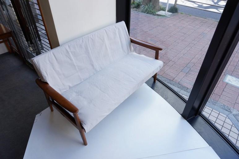 Kチェア2シーター用カバー ホワイトスモーク(薄めのグレー)