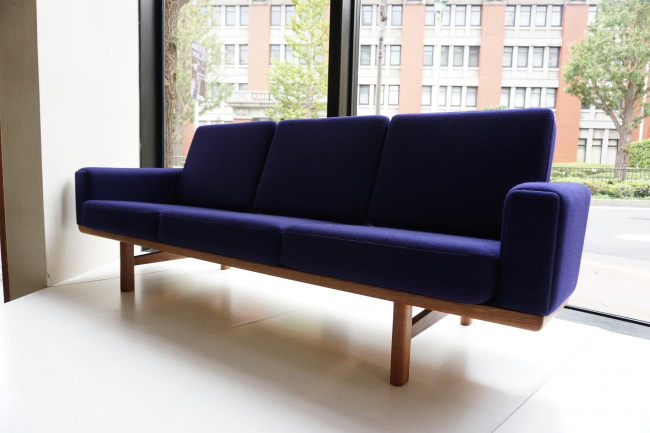 Hans J.Wegner GE236 sofa oak GETAMA / ハンス・ウェグナー ソファ オーク ゲタマ ビンテージ北欧家具