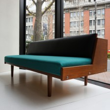 Hans J.Wegner GE-258(GE-6) Daybed sofa Teak GETAMA leather kvadrat / ハンス・ウェグナー デイベッド ソファ チーク丸脚 ゲタマ 本革 クヴァドラ ビンテージ北欧家具