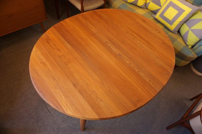 無垢チーク材 ビンテージ エクステンションダイニングテーブル
