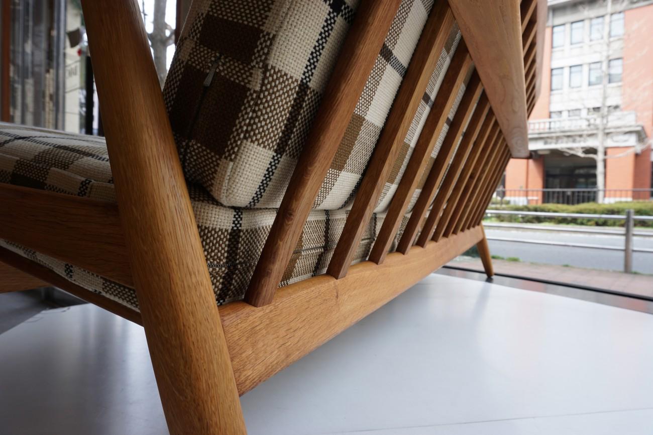 Hans J.Wegner GE240-3 sofa teak×Oak GETAMA(ハンス・ウェグナーデザイン ゲタマ社製 ビンテージ チーク×オーク材)