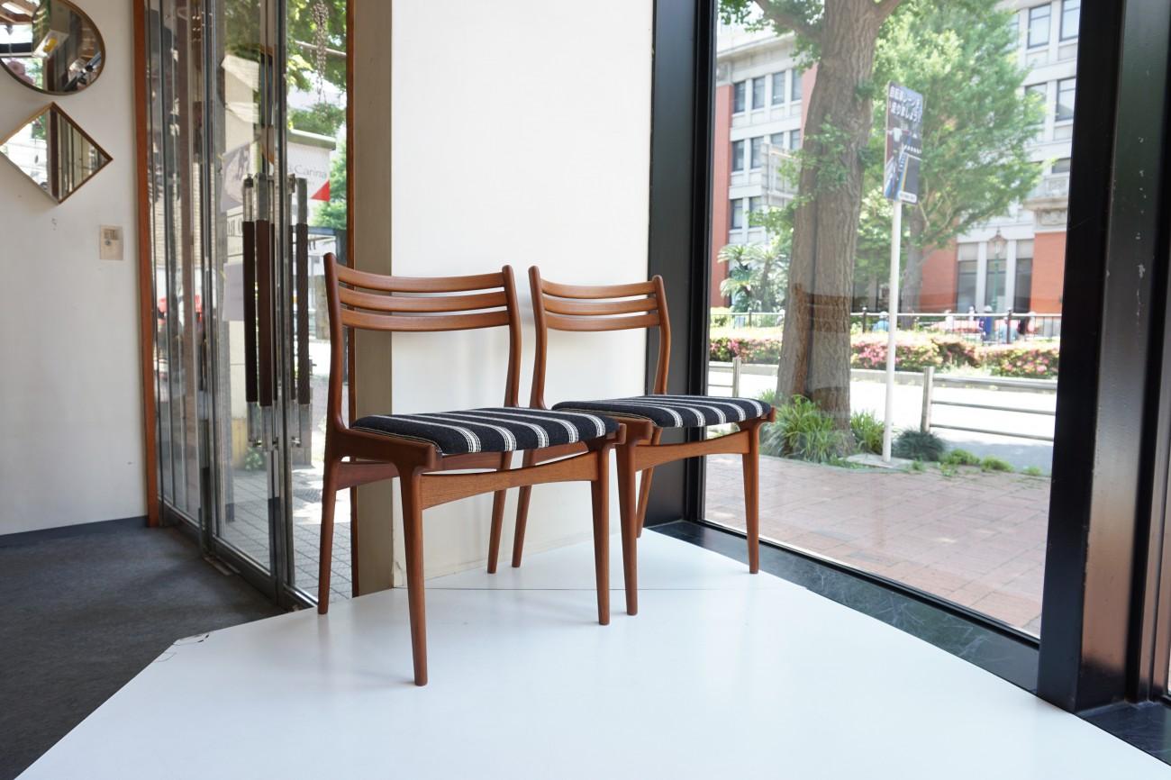 Johannes Andersen dining chair 4pset Uldum Mobelfabrik Kjellerup Vaeveri Zivago / ヨハネスアンダーセン ダイニングチェア4脚セット ケアロップヴァヴェリ ジバゴ