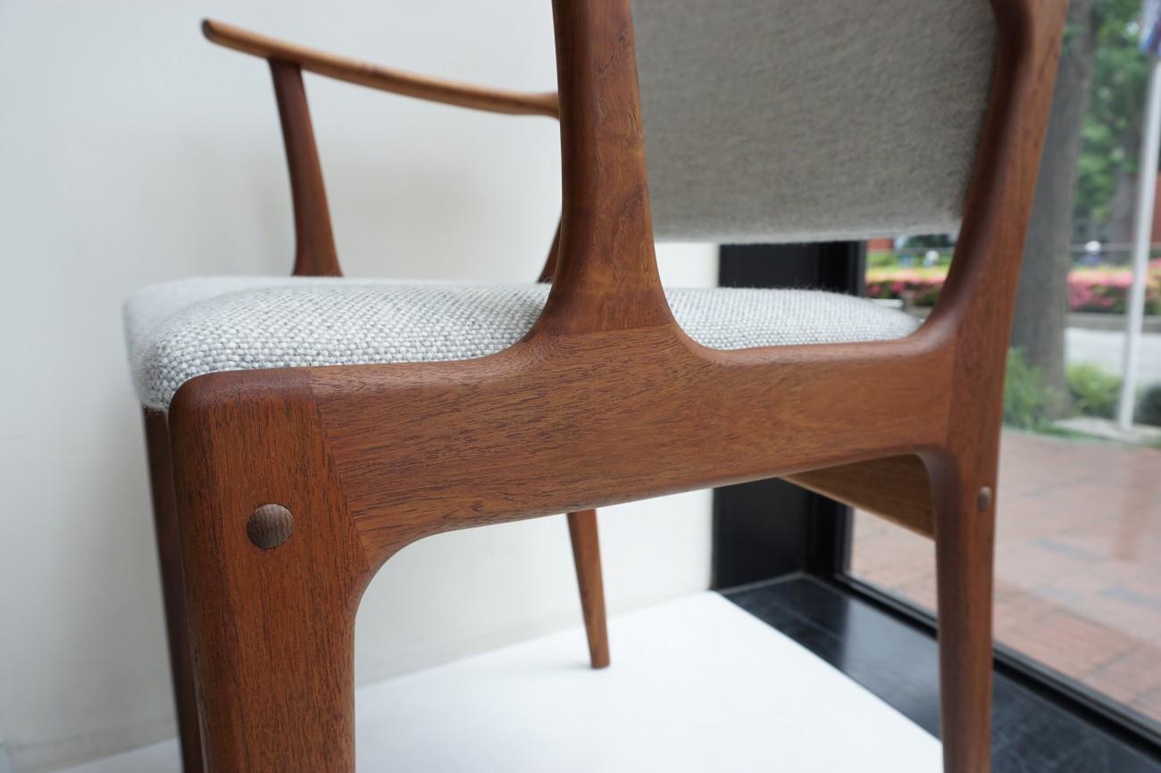 Johannes Andersen chair Uldum Mobelfabrik Kvadrat Hallingdal 65 / ヨハネスアンダーセン アームチェア クヴァドラ ハリンダル65