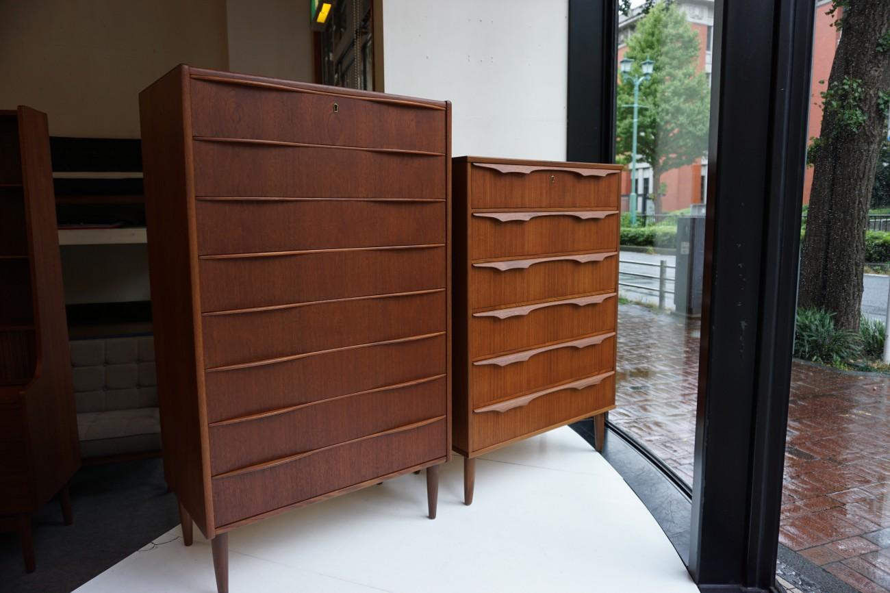 Teak chest / チーク チェスト 色調整比較 / ビンテージ北欧家具