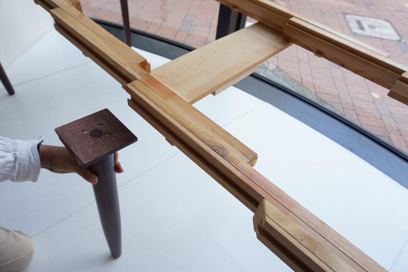 Rosewood extension dining table / ローズウッド エクステンション ダイニングテーブル 伸長式