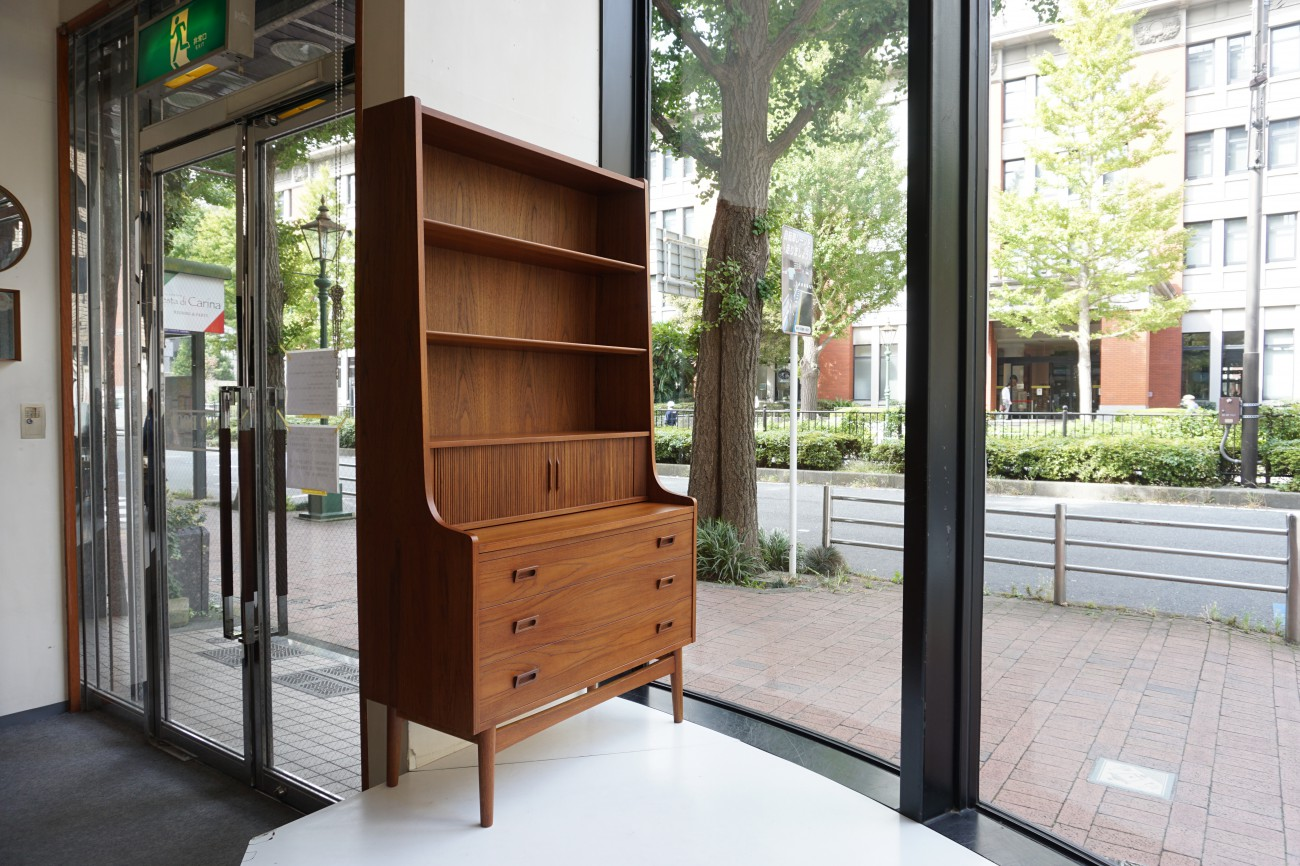 Johannes sorth teak book shelf Bornholms Mobelfabrik / チーク 蛇腹ブックシェルフ ビューロ チェスト