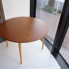 FARSTRUP extension round dining table(teak×beech) / チークxビーチ エクステンション ラウンドダイニングテーブル