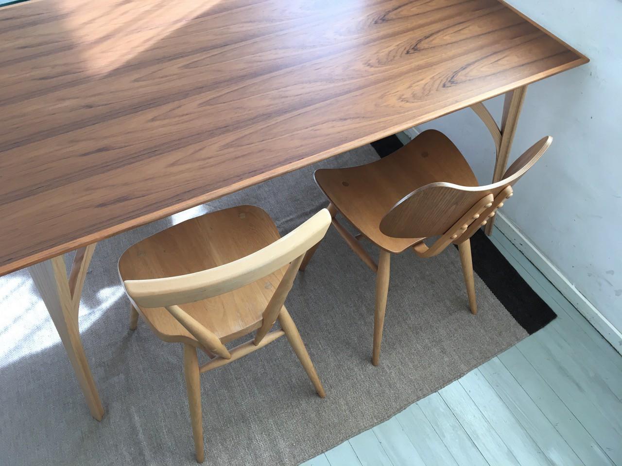 DECO-BOCO Original Dining table Desk / デコボコ オリジナルダイニングテーブル デスク チーク×オーク(オーダー コンパクト デスク)150cm