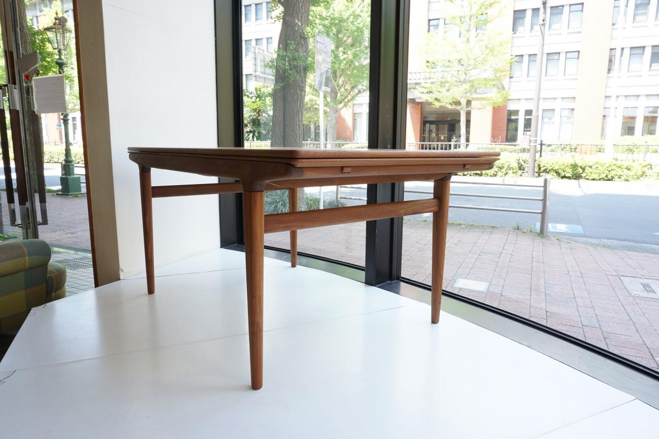 Johannes Andersen Uldum Mobelfabrik Dining table chair set ヨハネスアンダーセン エクステンションダイニングテーブル ダイニングチェアセット