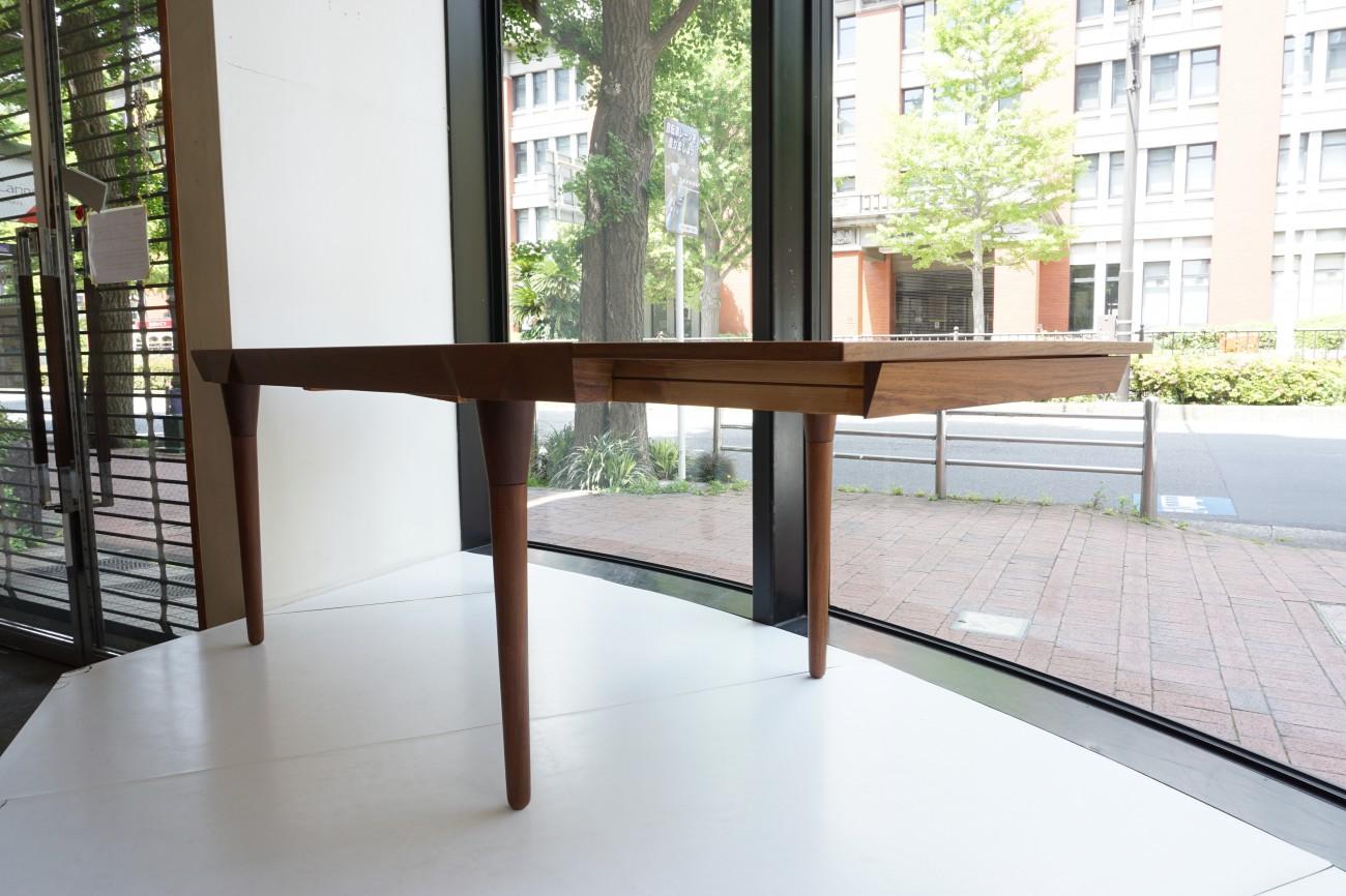 Teak extension dining table / チーク ビンテージ エクステンションダイニングテーブル 無垢丸脚 テーパー