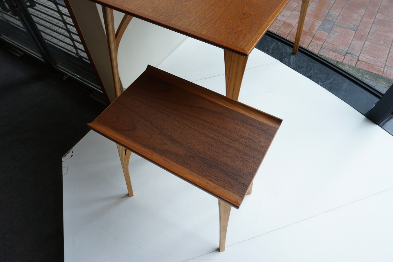 オリジナルスモールテーブル チーク×オーク / DECO-BOCO Original Small table (オーダー コンパクト サイド)