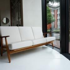 Hans J.Wegner GE240 3 sofa Teak×Oak GETAMA / ハンス・ウェグナーデザイン ゲタマ社製 ビンテージ ソファ チーク材×オーク材 リネン100%