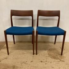 J.L.Moller N.O.Moller No.77 Chair Teak / J.L.モラー ニールス・O・モラー チーク ダイニングチェア / stock2108-23(メンテナンス前)ビンテージ北欧家具