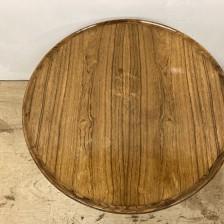 Rosewood round  coffee table  / ローズウッド ラウンド コーヒーテーブル / stock2108-12(メンテナンス前)ビンテージ北欧家具