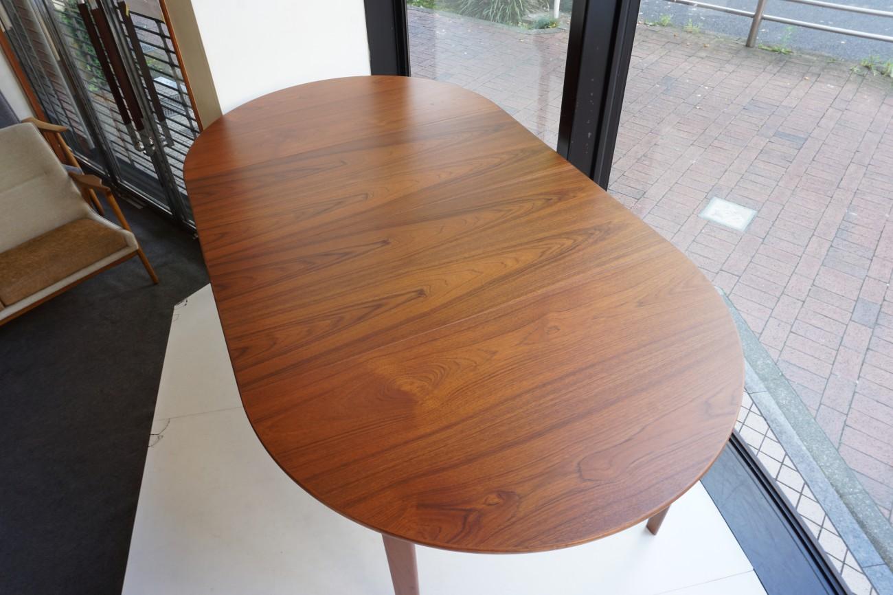 Teak round dining table / チーク ラウンド エクステンション ダイニングテーブル